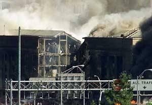 五角大楼被撞击的一侧