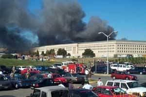 各种救护车辆停满了五角大楼的周围