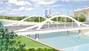 下承式砼拱桥-卫津河一座桥梁一道景 附图