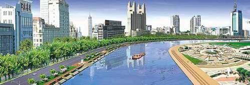 该方案按照打造世界名河和两岸综合开发的要求,通过堤岸改造和河道图片